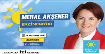 AKŞENER ERZİNCAN'A GELİYOR