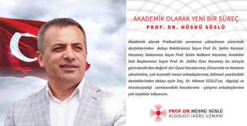 DOÇ. DR. HÜSNÜ SÜSLÜ'YE PROFESÖRLÜK UNVANI