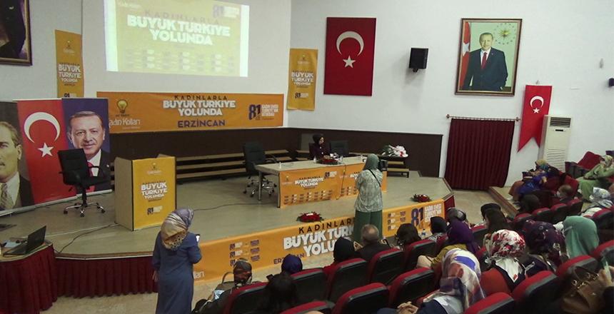 KADINLARLA BÜYÜK TÜRKİYE YOLUNDA 'ERZİNCAN'